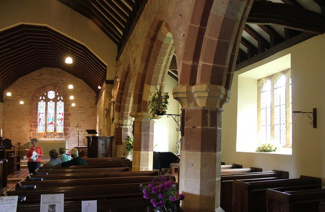 Leaning pillars, St Faiths, Berrow