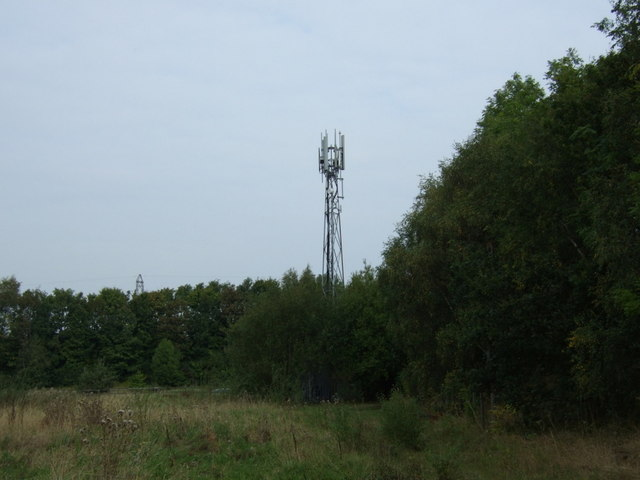 Communications mast near the M62