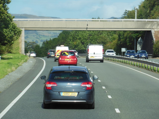 The A55 North Wales Expressway towards junction 12