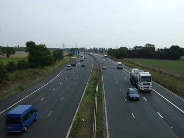 The M62 eastbound