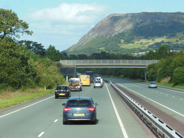 The A55 North Wales Expressway towards junction 14