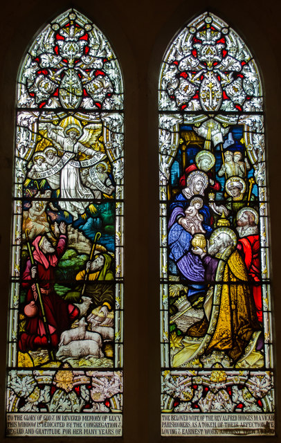 Stained glass window, Christchurch Blacklands, Hastings