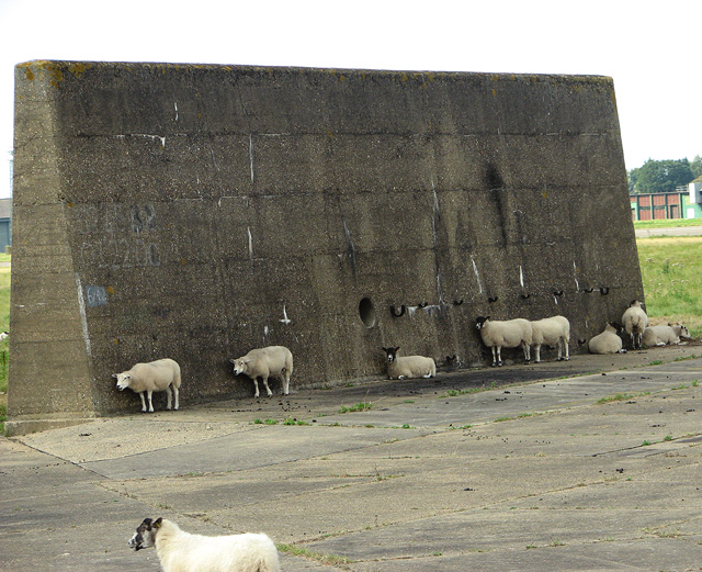 Blast wall  from the Cold War period