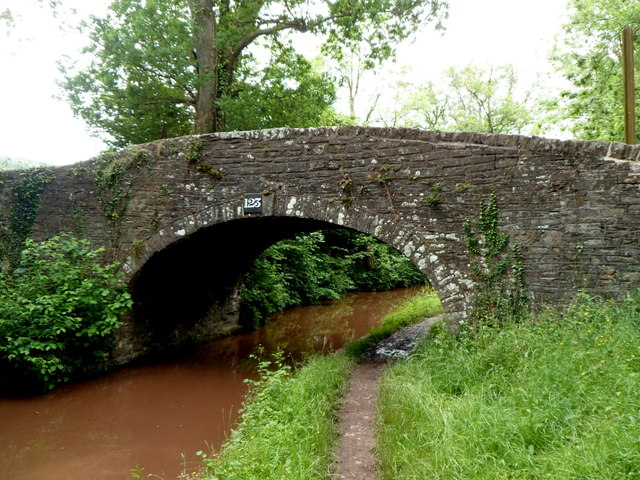 East side of Mon & Brec Canal bridge 123