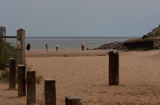 Entrance to Brancaster beach