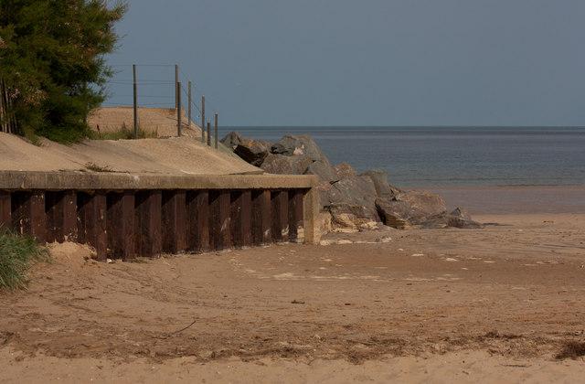 Sea defences, Brancaster beach