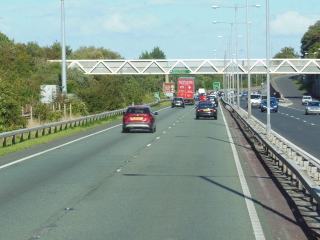 A55 North Wales Expressway towards junction  20