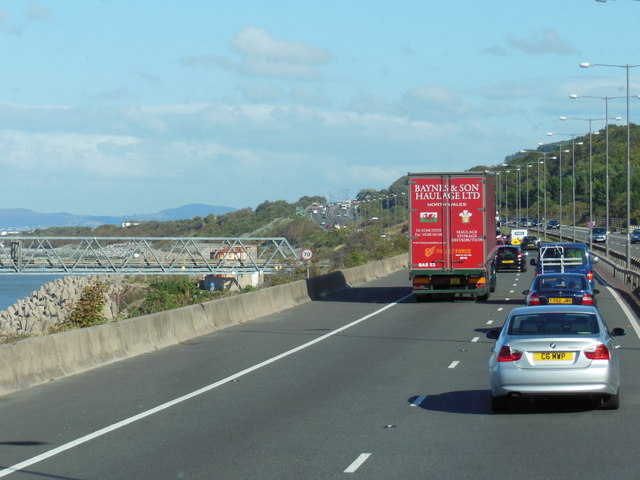 A55 North Wales Expressway towards junction  23