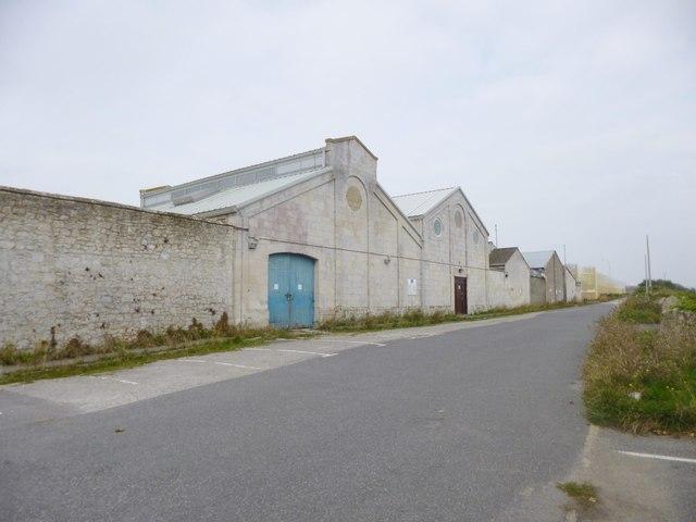 Grove, prison farm entrance