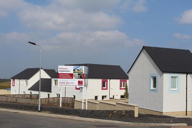 New housing development, Eaglesham