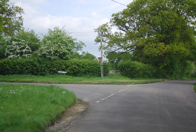 Broadwater Lane, Polecat Lane junction
