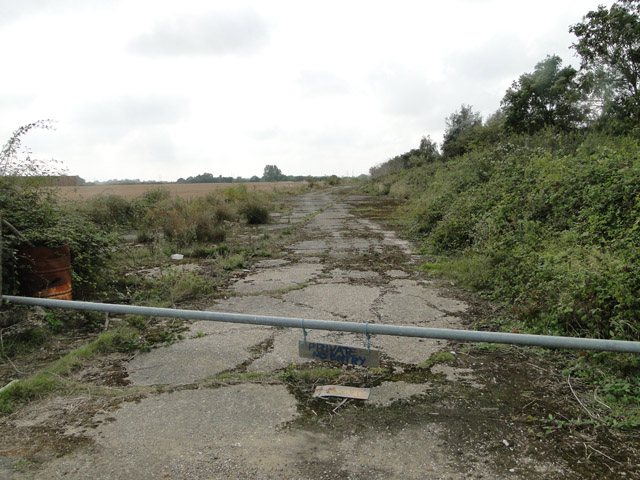 Old roadway at Theberton airfield