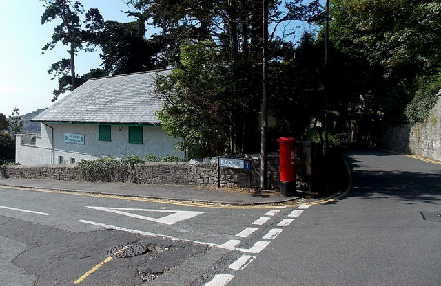 Postbox on the corner of Langland Bay Road and Alma Road, Langland, Swansea