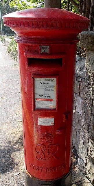 King George VI postbox near Langland Bay, Swansea