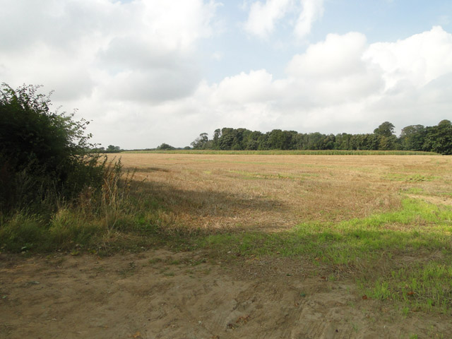 Stubble field near High Abbey Farm, Leiston