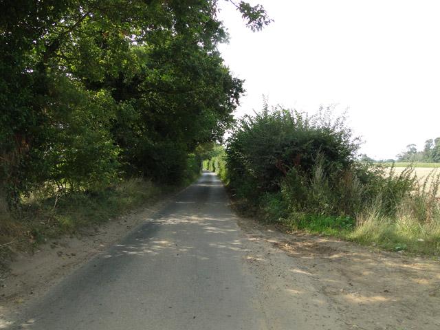 Country road near Leiston