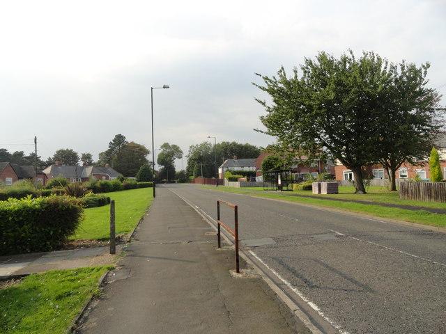 Looking west up Vigo Lane, Harraton