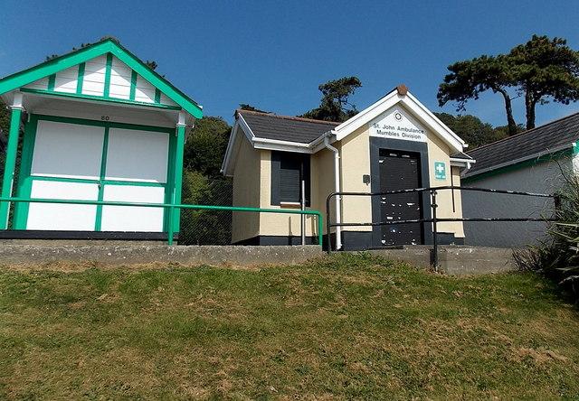 St John Ambulance hut, Langland Bay, Swansea