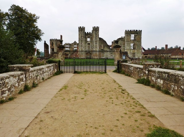 West front of Cowdray Castle ruins