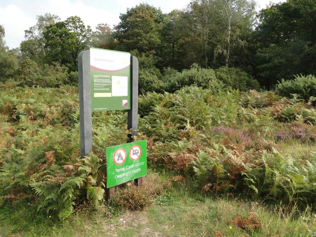 Sign at Westleton Heath