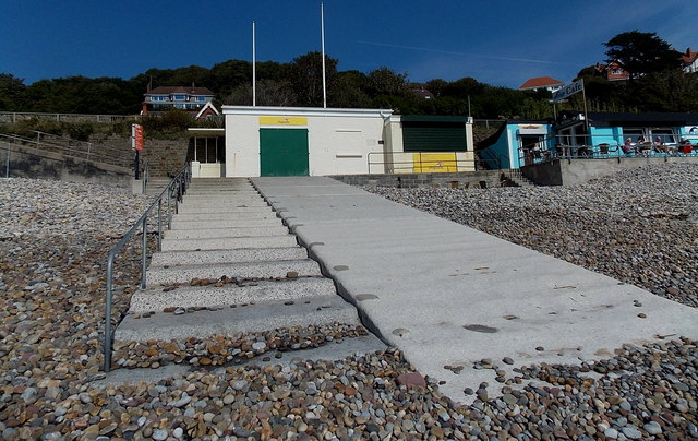 Lifeguard station and slipway, Langland Bay, Swansea