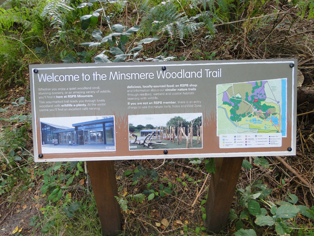 Minsmere Woodland Trail sign