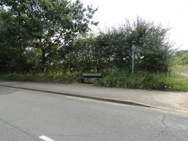 Seat beside the road at Sizewell