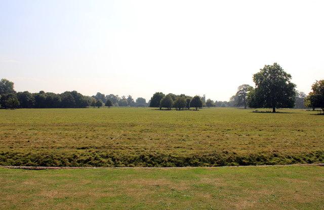 View across the Ha-ha at Attingham Park