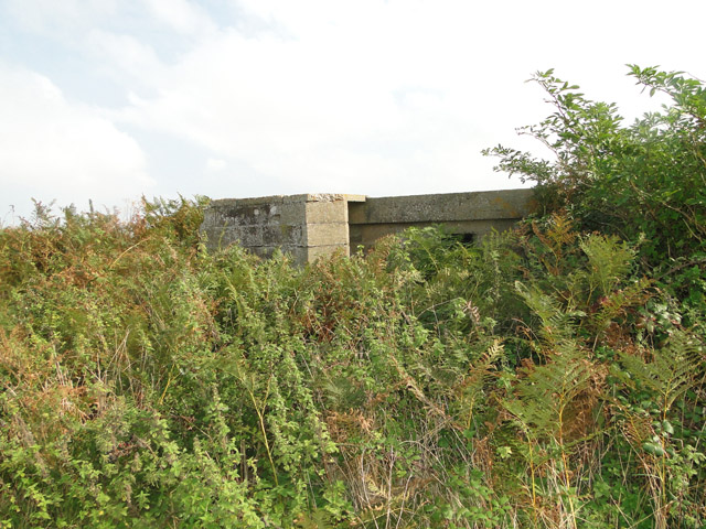 A Suffolk Square pillbox on the dunes at Sizewell