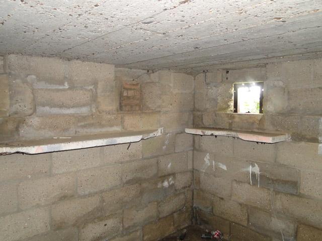 Suffolk Square pillbox, interior view