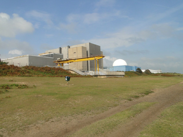 Sizewell power station from the dunes
