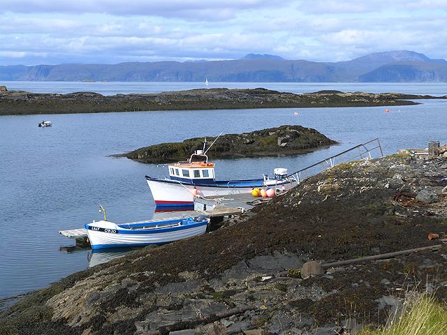 Boats near Cullipool