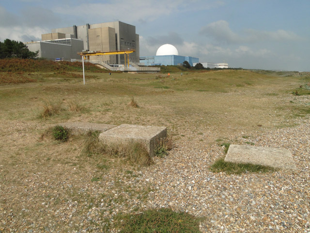 WW2 tank-traps on the dunes at Sizewell