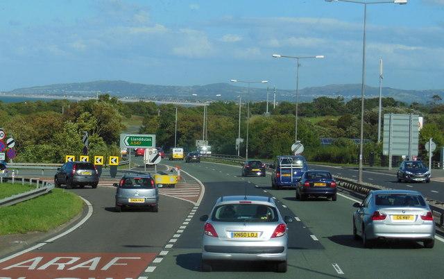 A55 North Wales Expressway at  junction  23