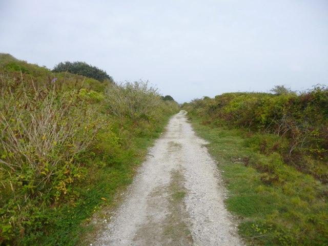 Grove, railway trackbed