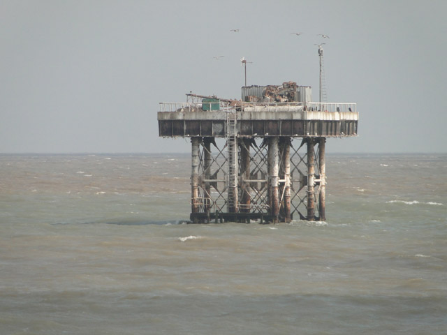 Sizewell power station cooling water inlet tower (two)