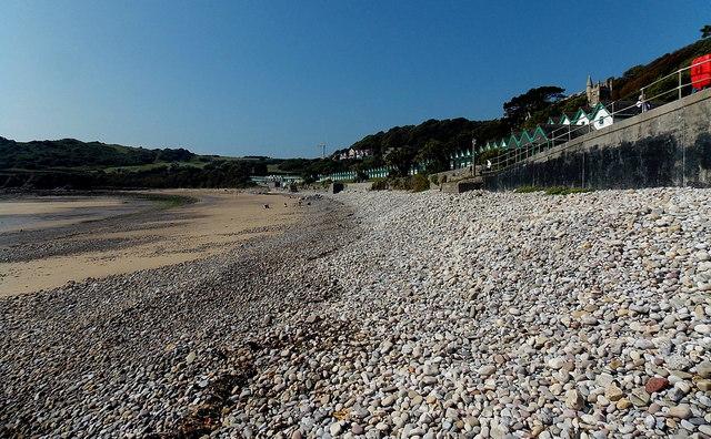 Pebbles and sand, Langland Bay, Swansea