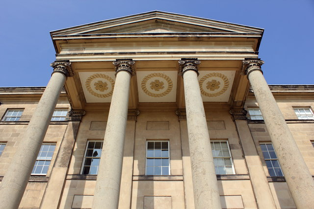 Portico Columns at Attingham Park Mansion