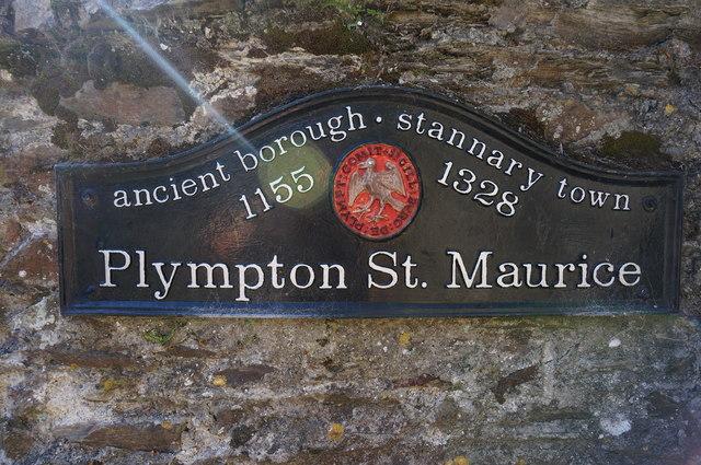 Sign on wall, Plympton St Maurice