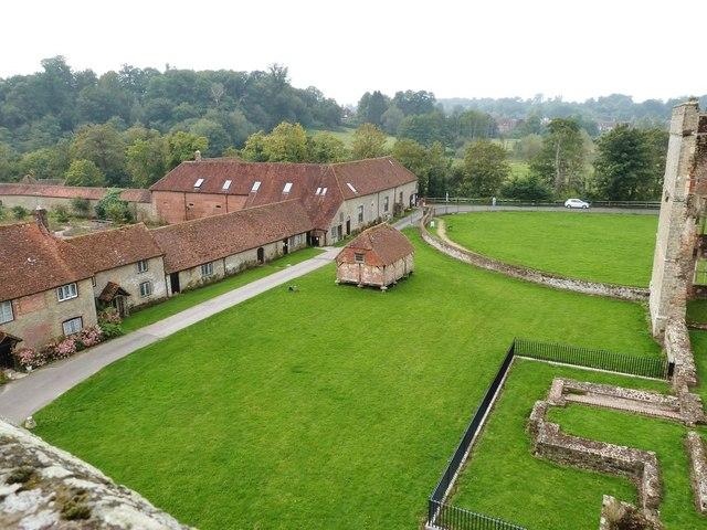 Cowdray Castle ruins,
