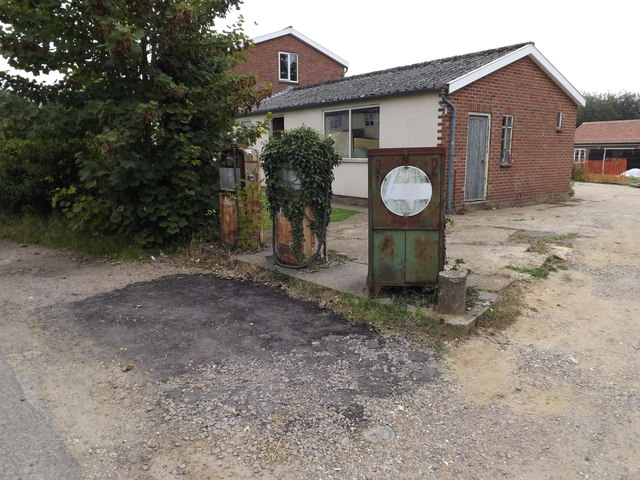 Old Petrol Pumps on Seething Street