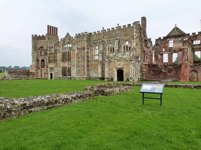 Cowdray Castle ruins,