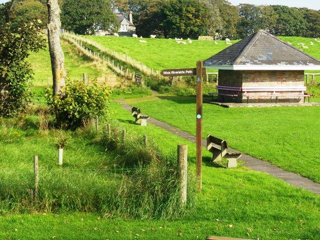 Footpath through public park, Wick