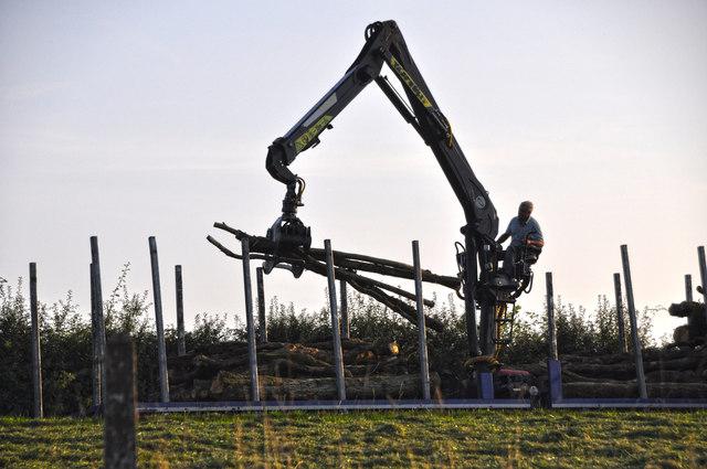 West Somerset : Grassy Field & Machinery