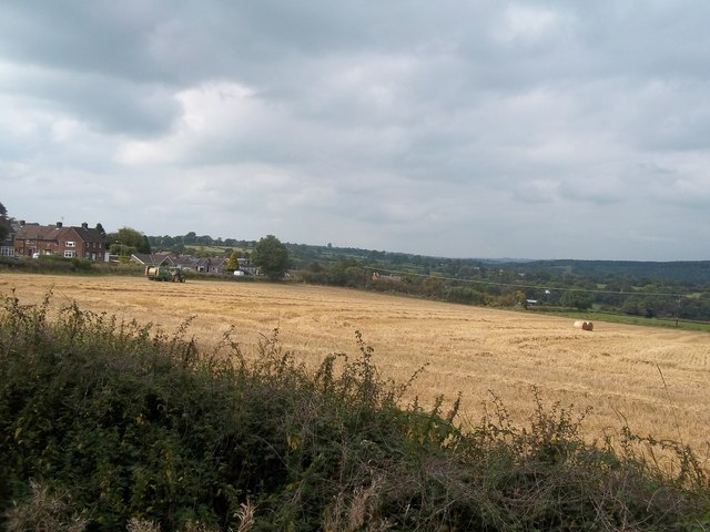 Baling near Hulland Ward