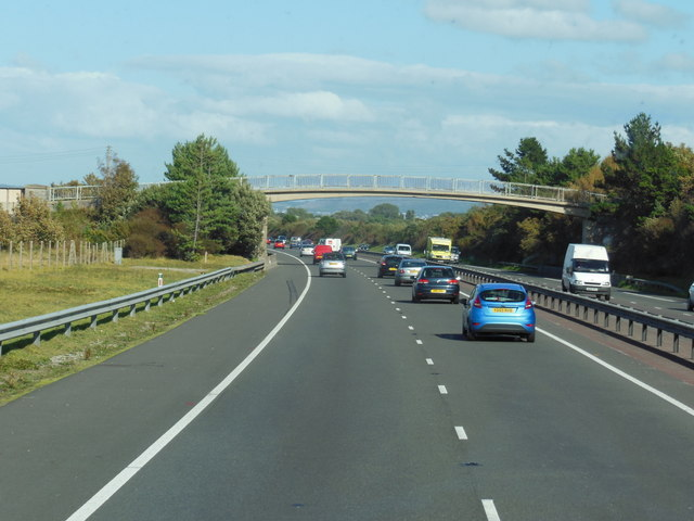 A55 North Wales Expressway towards junction  23a