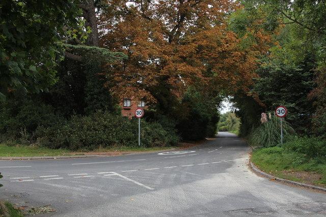 Lane past The Hop Kilns