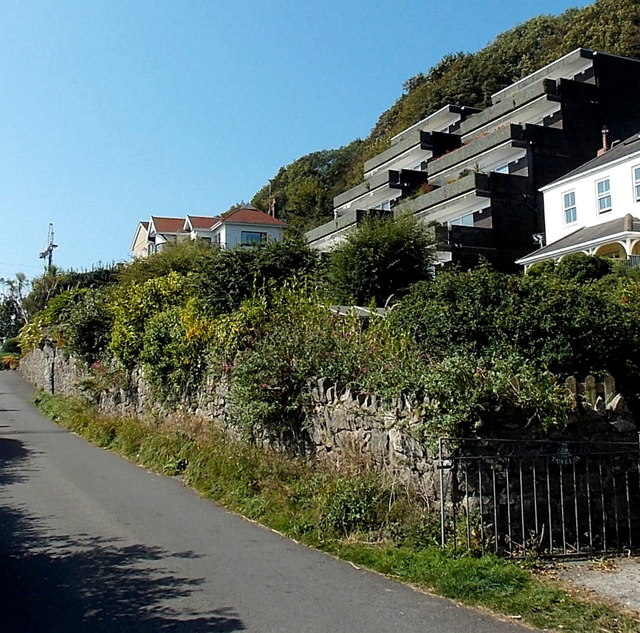 Steplike apartments in Langland, Swansea