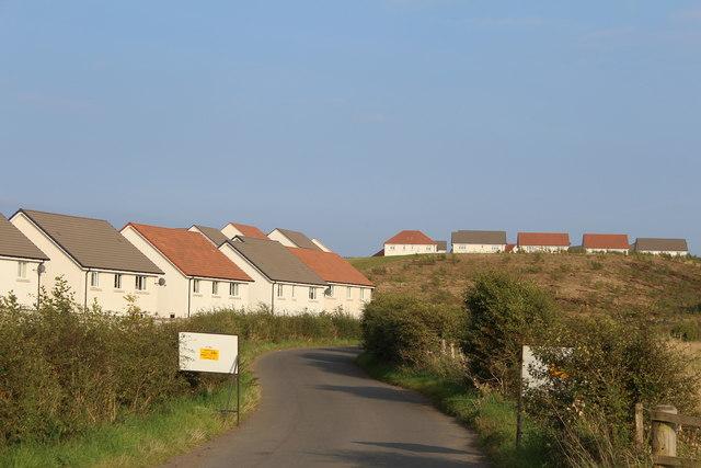 New housing by Jackton Road, East Kilbride
