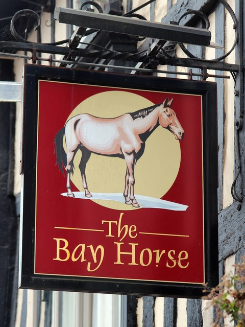 The Bay Horse sign